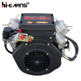 le moteur diesel refroidi à l'air de deux cylindres 15HP a placé (2V86F)