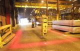 倉庫で使用される天井クレーンの警報灯