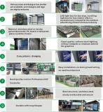La publicidad exterior la energía solar la parada de autobús de los precios de vivienda