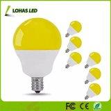 2017 Nuevo producto G14 5W Bombilla LED 40W Bombilla de luz Bug amarillo equivalente con base E12