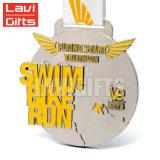 Kundenspezifische Silikon-Farbband-Kleber-Sport-Konkurrenz Suvenir Medaille für Schwimmen