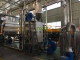 Haustierüberschüssige Plastikflasche, die das waschende Trocknen zerquetscht, Maschine aufbereitend