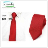 Corbata rayada de la marina de la tela cruzada gris azul del color rojo
