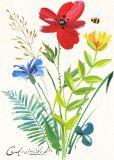 Het mooie Schilderen van de Druk van het Canvas van de Bloem & van de Vlinder met Hoge Qualtiy