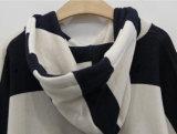 Популярные одежды отдыха заднего и белого Striped пуловера с капюшоном мыжские