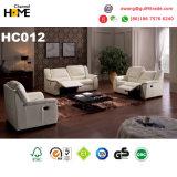 現代家具の黒の本革のリクライニングチェアのソファー(HC036)