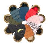 工場ベビーカーのための熱い販売の二重ジッパーの赤ん坊の寝袋