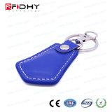 Control de acceso Keyfob del cuero 13.56MHz de la tarjeta de la proximidad RFID