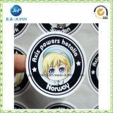 Логос 2018 оптовых продаж изготовленный на заказ напечатанный вокруг стикера слипчивого ярлыка круга (jp-s186)
