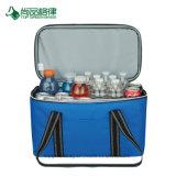 Resistente poliéster 600D doble con cremallera y bolsillo frontal impermeable bolso del refrigerador