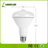 Ampoule du détecteur DEL de l'ampoule Br30 12W d'éclairage LED de détecteur de mouvement pour le vestibule de garage