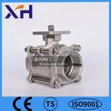 3PC Válvula de bola con placa de fijación CF8/CF8M
