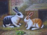 [هندمد] مزدوجة أرنب [أنيمل ويل بينتينغ] لأنّ زخرفة بيتيّة