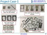 Bandeja modificada para requisitos particulares fábrica del portatarjetas del acero inoxidable SIM del moldeo a presión del metal