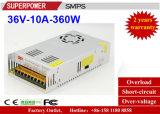 Alimentazione elettrica di commutazione del driver 36V 10A 360W del LED riservata alla stampante 3D