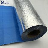 Tissus enduits de couleur bleue en aluminium isolation des bâtiments