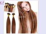 La lumière de couleur marron I Astuce Remy Hair Extension de l'homme brésilien Stick Cheveux humains