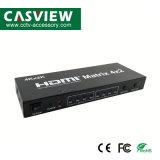 Matrice HDMI 4X2 avec télécommande l'appui 4k*2K 3D appui HDMI 1.4b Résolution jusqu'à 4096*2160/30Hz commutateur HDMI Splitter pour xBox DVD Projecteur PS3 PS4
