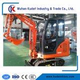 Mini excavadora de cadenas con motor diésel de 1700 kg.