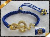 Rhinestone Charms Bracelet bijoux avec cordon (LW013)