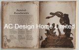 تفصيل أدب [بو] [لثر/مدف] خشبيّة كتاب شكل جدار فنية