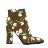 Лодыжка 3D пятки 2.5 дюймов низкая печатает ботинки лодыжки для женщин