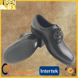 Schwarzer echtes Leder-heißer Verkaufs-preiswerte Militärpolizei-Büro-Schuhe
