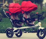 Triciclo gemellare di /Price del nuovo del giocattolo di vendite triciclo gemellare caldo freddo dei bambini per i capretti/il triciclo del gemello bambino di alta qualità con approvazione del Ce