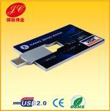 De plastic Schijf van de Flits van de Kaart USB van de Naam, Aandrijving van de Pen van de Creditcard de Gestalte gegeven