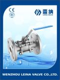 3PC DIN Pn16/Pn40 Flanged End Ball Valve