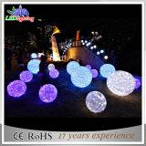 LEIDENE van het Motief van de Bal van de Decoratie van de Straat van de vakantie 3D Lichten van Kerstmis