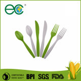 Couverts remplaçables compostables biodégradables du plastique CPLA de 100%