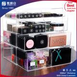 Dulex Plexiglass Makeup Organizer Acrílico Cosmetic 4 Drawer