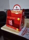 La exhibición impermeable Shinny cartón encimera para Alimentos, personalizada MDF Pop / POS Contador Pantalla de papel