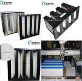 V-Tipo di plastica filtro dell'aria pieghettato filtro del blocco per grafici