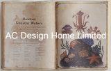 海洋学PU Leather/MDFの木の本の形の壁の芸術