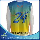 Lacrosse su ordinazione di sublimazione un Reversible Jersey delle 2 pieghe
