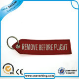 Customized Remove Before Flight Bordado Keychain (chave Tag)