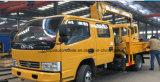 6 Vrachtwagen van de Kraan van de Cabine van wielen de Dubbele Telescopische 3t Opgezet met Kraan