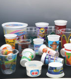 Full-Automatic Impression offset 6 couleurs de la machine pour des verres en plastique (CP670)