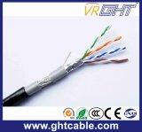 4X0.5mmcu, 0.95mmpe, O.D. : 6.3mm, câble extérieur de 64almg SFTP Cat5e