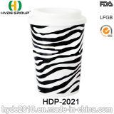 Qualitäts-doppel-wandige Plastikkaffeetasse mit Kappe (HDP-2024)