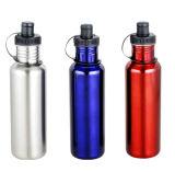 De Fles van het Water van de Sport van het Roestvrij staal van het Embleem van de douane voor Fiets