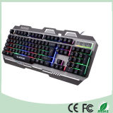 알루미늄 합금 디자인 다채로운 LED 역광선 컴퓨터 기계적인 도박 키보드 (KB-906EL-C)