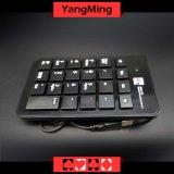 Teclado prendido magro portátil do número do USB da tabela do póquer do Baccarat mini para o portátil especial para o sistema Ym-Kd02 do Baccarat