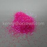 Rosafarbenes purpurrotes Glam und Glits Holo Neonfunkeln