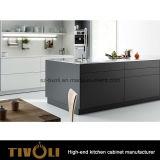 Het de elegante Moderne Keukenkast van de Kleur van de Melamine van het Ontwerp Grijze en Meubilair van de Keuken (AP151)