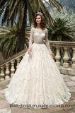 2013 Hot bretelles Blanc Ivoire Tulle Applique plissé perles fleurs à la main une ligne robe de mariée robe de mariée (de l'A111)