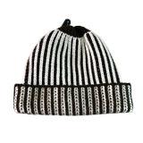 싼 간단한 줄무늬 뜨개질을 한 모자 (JRK120)