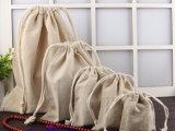صنع وفقا لطلب الزّبون ترويجيّ علامة تجاريّة طبلة طبيعيّ قطر نوع خيش [دروسترينغ بغ]